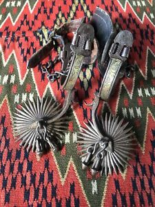 Wonderful Pair Of Spanish Colonial Spurs Mexican Mexico