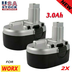 2Pack WA3127 18V 3.0Ah NiMH Replacement Battery for WORX WA3152 WG150 WG15 WG152