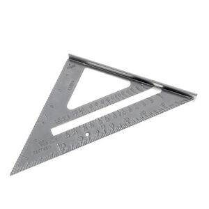 7 Inch Aluminium Alloy Right Angle Triangle Ruler with 0.1 Accuracy Measurement $5.46