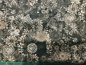 Floral Brown tonal stems leaves 18quot; cuts only Sewing Cotton Quilt Fabric $1.00 $1.00