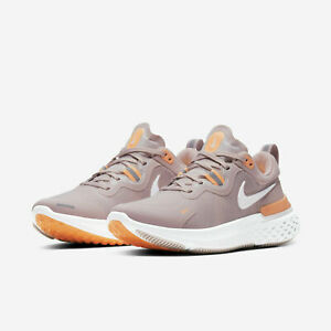 Nike Womens React Miler Running Shoes Champagne White Orange CW1778 602 NEW $72.99