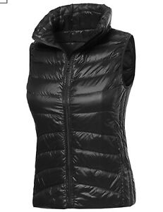 Women#x27;s 90% Goose Down Packable Puffer Vest Padded amp; Plus Quilted Padding Vest $20.95