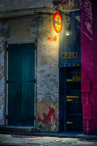 Photography The Dungeon Bar New Orleans Toulouse and Bourbon Street 0n canvas $97.99