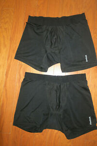 2 LOT❤️ L 34 ❤️REEBOK ❤️MENS Sports BLACK Work Out UNDER SHORTS *Sweat*Free* $9.09