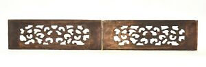 Pair of Antique Chinese Wood Carved Panel 19th c $45.00