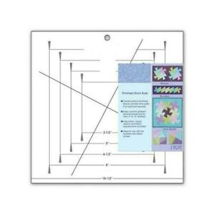 1 pcs Pinwheel Block Ruler by June Tailor Patch Tool 26.5*26.5*2.5cm M1O9 $13.07