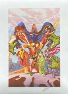 ALEX ROSS new TEEN TITANS TRIBUTE lithograph SIGNED AP11 Exclusive NYCC 2020 COA $299.99