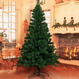 4 5 6 ft Artificial Christmas TreeMetal Base with 10M 100 LED Warm LightRemote $32.99