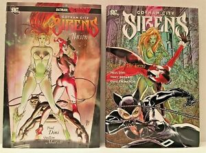 LOT OF 2 DC COMIC GOTHAM CITY SIRENS HARDCOVER VOLUMES