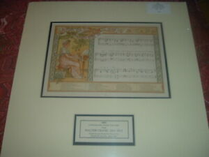 1883 Lithograph Stone Color Walter Crane Music Sheet. When the Bright God of Day $39.00