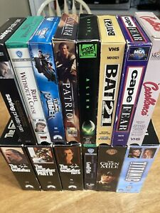 Lot Of 14 Assorted VHS Tapes Action Drama Inc. Classics amp; Double Sets $12.50