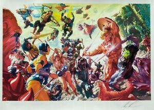 ALEX ROSS rare MASTERS OF THE UNIVERSE litho SIGNED Sideshow Exclusive AP16 COA $599.99