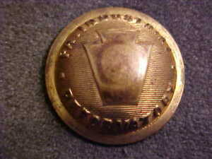 RARE ANTIQUE PA. INDUSTRIAL REFORMATORY 7 8 DOMED BRASS COAT BUTTON WATERBURY $18.00