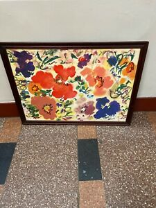 HELEN COVENSKY ABSTRACT FLOWERS LITHOGRAPH $129.00