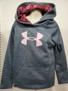Girls Kids Under Armour Pullover Hoodie NEW Long Sleeve Steel Gray Size XL $20.99