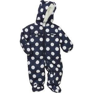 Carters Child of Mine Hooded Pram Snowsuit Size 6 9 months NWT Polka Dots Girl $13.99