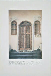 SIGNED SET OF 4 COLOR LITHOGRAPHS  quot;JEDDAH DOOR#x27;Squot; NUMBERED AND SIGNED $200.00