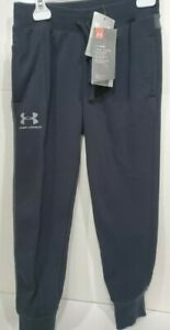 Boys Kids Youth Under Armour Fleece Cuffed Pants NEW Black Size Small Cold Gear $20.99