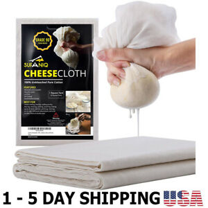 Cheesecloth Filter Cotton Cloth Cheesecloth Reusable Ultra Fine Muslin Baking