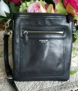 Coach Black Leather Small Crossbody Shoulder Purse