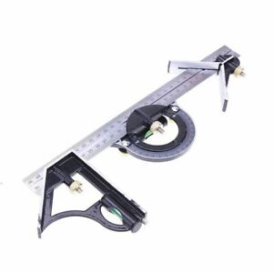 3 In1 Adjustable Ruler Multi Combination Square Angle Finder Protractor 300mm 12 $22.75