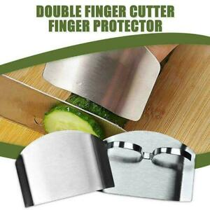 Kitchen Gadgets Stainless Steel Multi Purpose Anti Cutting Finger Guard New F5B9 $1.94