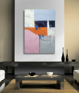 Hungryartist NY artist Large contemporary modern abstract art on canvas 24X36 $75.95