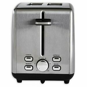 Professional Series 2 Slice Stainless Steel Wide Slot Toaster $28.99