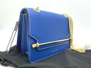 AUTH NWT $595 Strathberry Mini East West Leather Shoulder Crossbody Bag Cobalt $369.99