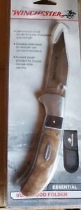 Winchester Knife Burl Wood Folder Essential Knife