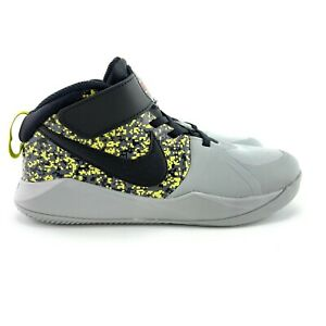 Nike Youth Team Hustle D 9 Digital Grey Black Shoes CS7026 001 Sizes 1 3 Y PS $39.97