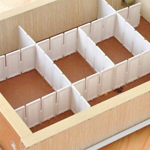 DIY Storage Organizer Storage Box Devider Space Saver Plastic 6Pcs set Drawer Cl $9.82