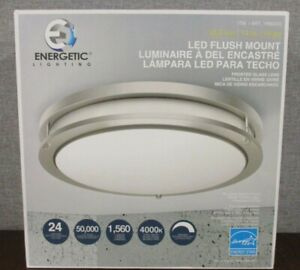 Energetic 14 inch Double Ring LED Flush Mount Ceiling Light 24w Dimmable NEW
