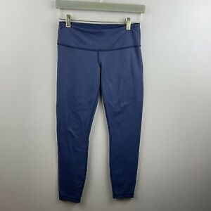 Lululemon Womens Wunder Under Low Rise Tight Blue Size 6 $49.99