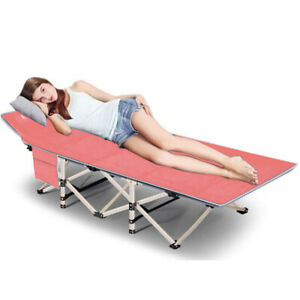 Updated Folding Camping Cots for Adults Heavy Duty Sleeping Cots w Carrying Bag