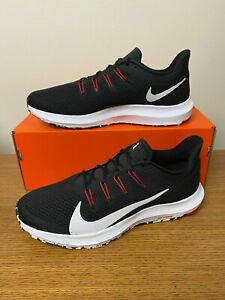 Nike Quest 2 Running Shoes Black White Anthracite Red CI3787 008 Mens NEW $52.99