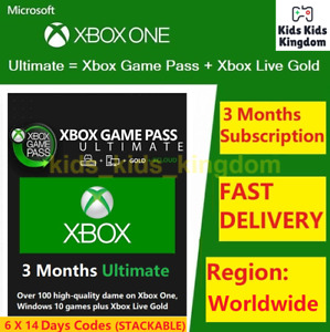 XBOX LIVE GAME PASS Ultimate 3 Months 6x14 Day 84 Days LIVE GOLDGAMEPASS $16.99