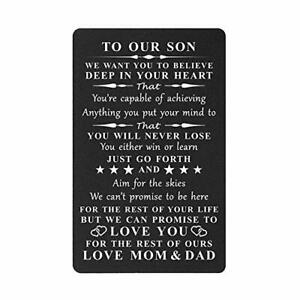 Inspirational Gift for Son from Mom and Dad Engraved for son from parents