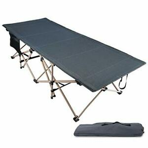 REDCAMP Oversized Folding Camping Cots for Adults 500lbs Double Layer Oxford ...