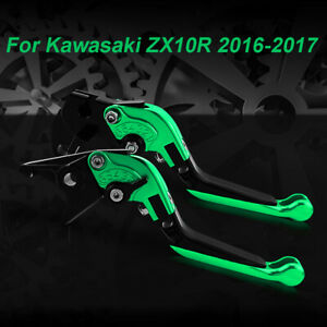 CNC Foldable Extendable Brake Clutch Levers Fit For Kawasaki ZX10R 2016 2017 $36.98