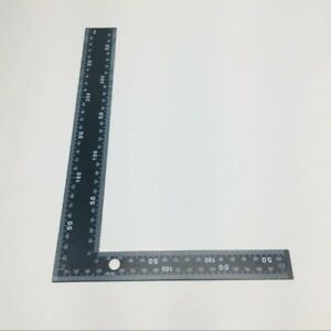 Right Angle Square Ruler Framing Carpenter Black Steel Clear Inch Easy Read $9.49