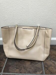 Coach Tote Pre Owned Beige Large