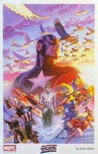 ALEX ROSS new CAPTAIN AMERICA Montage print SIGNED 2014 SDCC exclusive LAST ONE $89.99