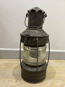 Antique Ships Lamp Boat Lamp German Ankerlight Anchor Light 1920s 1930s Old GBP 129.83