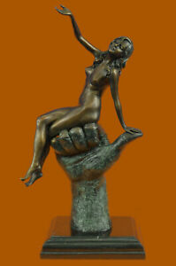 After Juno Bronze Abstract Nude Signed 38cm Statue Sculpture Lost Wax Method $230.30