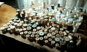 201 Vintage Thread Spools 103 Wooden 98 Other Materials $20.00