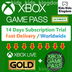 Xbox Game Pass Ultimate Live GOLD Game Pass 14 days Trial Fast DELIVERY $2.14