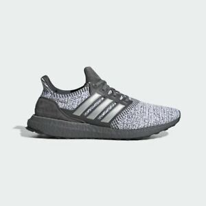 Adidas Ultra Boost DNA Mens Running Shoes Grey Silver Metallic White FW4898 NEW $129.99