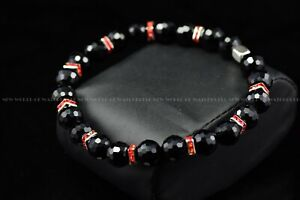 Beads Bracelet Handmade Jewelry Matching Invicta Watches Black and Red $16.99