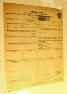 Vintage Pennsylvania System Railroad Freight Bill Invoice July 23 1923 $10.49